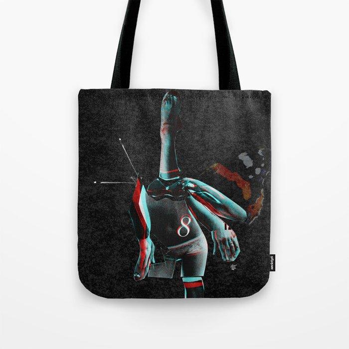 Build a Woman - Cut and Glue · Miss R · the dark side · dark ground Tote Bag