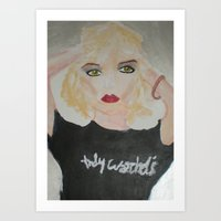 blondie Art Prints featuring Blondie by ArtByAngela