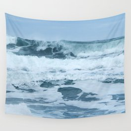 Crashing Waves in Spring Wall Tapestry