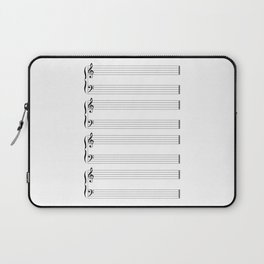 Musical Staff and Staves Laptop Sleeve