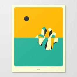 Minimal Landscape 9 (Iceberg) Canvas Print
