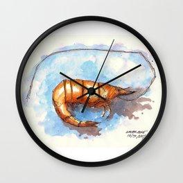 Mississippi Gulf Coast Shrimp Wall Clock
