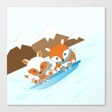 Skiing Canvas Print