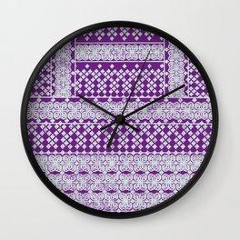 geometric flower in purple Wall Clock