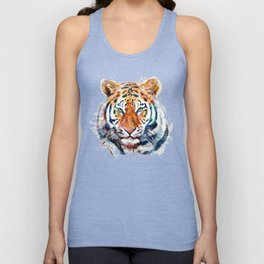 Tiger Head watercolor Unisex Tank Top