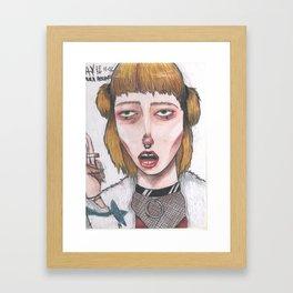 cigs and chockers Framed Art Print