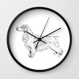 Spaniel Ink Drawing Wall Clock