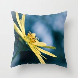 Blue Inkblot Dream Throw Pillow