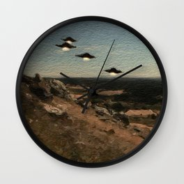 The First Wave - UFO Wall Clock