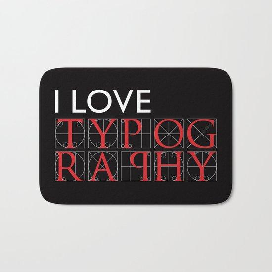 Typography Bath Mat