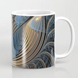 the fractal bird - blue Coffee Mug