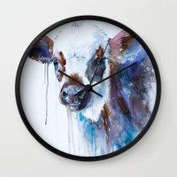 cow Wall Clocks featuring Cow by Slaveika Aladjova