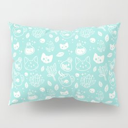 Herb Witch // Green Pastel Pillow Sham