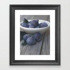 Fig Dish - Still Life - fine art Photography, hasselblad, macro photo n° 1 Framed Art Print