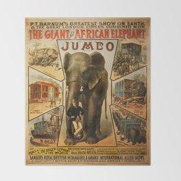 Vintage poster - Jumbo Throw Blanket