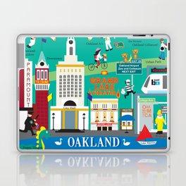 Oakland, California - Collage Illustration by Loose Petals Laptop & iPad Skin