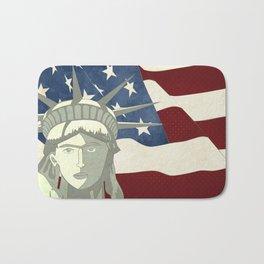 Statue of Liberty American Flag Bath Mat