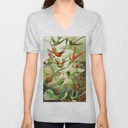 Kunstformen der Natur (Art Forms in Nature)a book of lithographic and halftones. Hummingbirds Unisex V-Neck