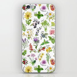 Plants & Herbs Alphabet iPhone Skin