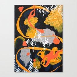 Yellow & Orange Triptych 1 Canvas Print