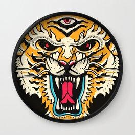 Tiger 3 Eyes Wall Clock