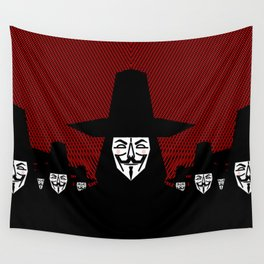 Million Mask March Wall Tapestry