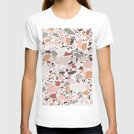 Neutral Terrazzo / Earth Tone Abstraction T-shirt