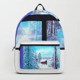 Winter Collage Backpack