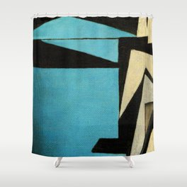 O Homem e a Máquina (The Man and the Machines) Shower Curtain