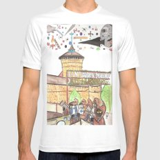 1561 Aerial Battle Over Nuremberg Reimagined from the Handwerkerhof MEDIUM Mens Fitted Tee White