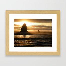 Pacific Northwest Sunset Framed Art Print