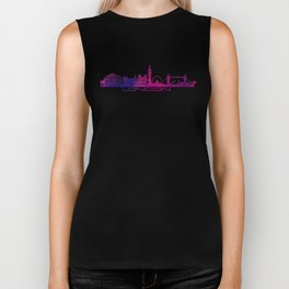 London skyline city pink Biker Tank