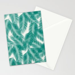 Green Tropical Palm Leaves Stationery Cards