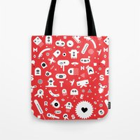 monsters Tote Bags featuring Monsters by Vickn