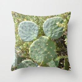 Mickey Cactus   Greek Nature Throw Pillow