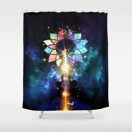 Kingdom Hearts - Combined Keyblade Shower Curtain