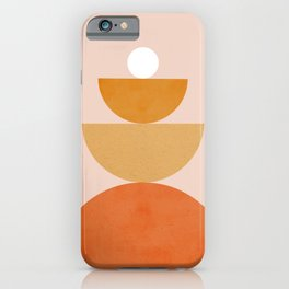 Abstraction Circles Balance Modern Minimalism 007 iPhone Case