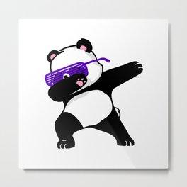 Dabbing Panda Cute Funny kids adults Dabing dane Metal Print
