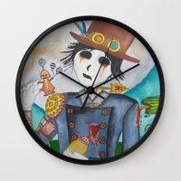 steampunk Wall Clocks featuring Steampunk by Lynne Gryphon