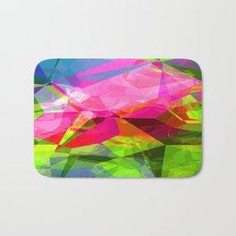 Rosas Moradas 4 Abstract Polygons 1 Bath Mat