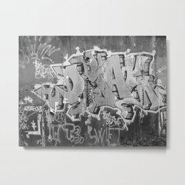 scratches Metal Print