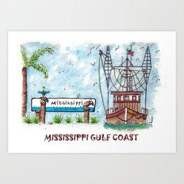 Mississippi Gulf Coast Art Print