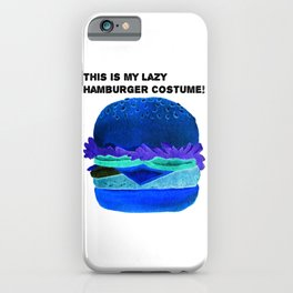 This Is My Lazy Hamburgercostume2 iPhone Case