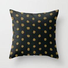 GOLD DOTS Throw Pillow