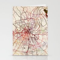 nashville Stationery Cards featuring Nashville by MapMapMaps.Watercolors