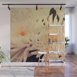 Gorgeous white dahlia Wall Mural