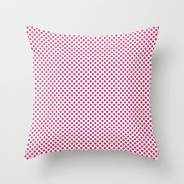 Magenta Polka Dots Throw Pillow