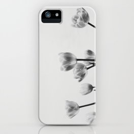 Black & White Tulips iPhone Case