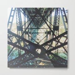 Deception Pass Bridge Geometry Metal Print