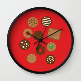 Assorted Biscuits Wall Clock